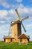 Wooden windmill — Stock Photo