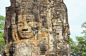 Stone head of Buddha — Foto Stock