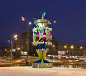 Christmas decoration, Moscow — Stock Photo