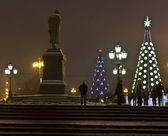 Christmas trees, Moscow — Stock Photo