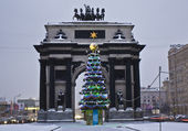 Moscow, Christmas tree near Triumphal arch — Stock Photo