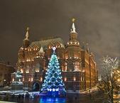 Christmas tree, Moscow — Stock Photo