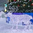 Electric deers on Christmas, Moscow — Stock fotografie #13606532