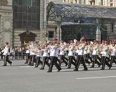Moskau, internationales festival der militärischen orchester — Stockfoto