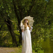 Stock Photo: Lady in white