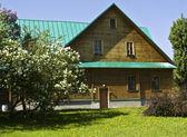 木房子里俄罗斯 — 图库照片