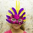 Girl in carnival mask — Stock Photo