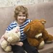 Child with two bears — Stock Photo