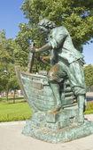 Saint-pétersbourg, monument au roi pierre i — Photo
