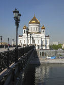 Cathedral of Jesus Christ Saviour in Moscow, Russia — Foto Stock