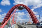 Moscow, Picturesque bridge — Stock Photo