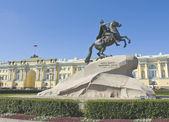 San petersburgo, monumento al rey pedro i — Foto de Stock