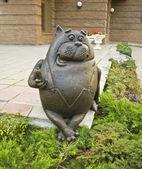 Moskva, staty till katt med korv — Stockfoto