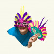 Woman in carnaval mask — Stock Photo #15891671