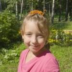 retrato de menina na natureza — Foto Stock