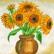 Sunflowers, painting — Stock Photo #16858229