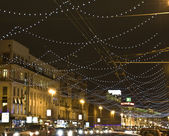 Moscow, Russia - December 12, 2011: Christmas decorations on Tve — Stock Photo