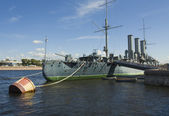 "St. Petersburg, cruiser ""Aurora"" — Стоковое фото"