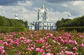 St. Petersburg, Resurrection cathedral of Smolniy monastery — Stock Photo
