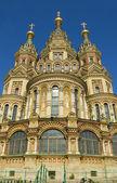 Peterhof, katedrála svatého petra a svatého pavla — Stock fotografie