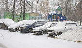 Snowfall in Moscow — 图库照片
