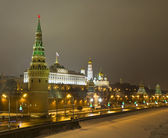 Moscow, Kremlin at night in winter — Stock Photo