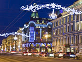 St. Petersburg, Russia, Nevskiy prospectus street — Stock Photo