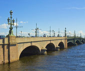St. Petersburg, Trinity bridge — Stock Photo