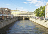St. Petersburg, house of arcitect Armani on river Moyka — Stock Photo