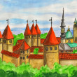 Tallinn, painting — Stock Photo #19520735