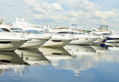 Yachts on water — Stock Photo