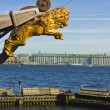 St. Petersburg, Winter palace (Hermitage) and part of sailing sh — Stock Photo