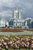 St. Petersburg, Resurrection cathedral of Smolniy monastery. — Stock Photo