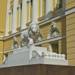 Royalty-Free Stock Photo: St. Petersburg, sculpture of lion near Russian museum