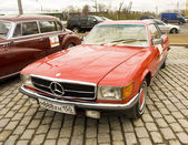 Rally of classical cars, Moscow, mercedes benz — Стоковое фото