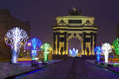 Triumphal arch in Christmas, Moscow — Stock Photo