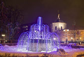 Electric fountain, Moscow — Stock Photo