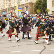 Orchestra of Scotland on parade in Moscow — Stock Photo