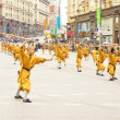 monks of shaolin monastery in china on parade in moscow — Stock Photo
