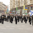 Orchestra of Russia on parade in Moscow — Stock Photo