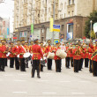 Orchestra of the United Arab Emirates on parade in Moscow — Stock Photo