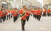 Orchestra from the United Arab Emirates on parade in Moscow — Stock Photo