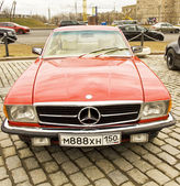 Rally of classical cars, Moscow, mercedes benz — Stock Photo