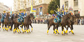 Russian cavalry on international festival in Moscow — Stock Photo