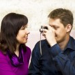 Stock Photo: Couple with photocamera
