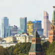Moscow, Kremlin and modern skyscrapers — Stock Photo