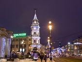 St. Petersburg, Nevskiy prospectus at night — Stock Photo
