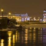 St. Petersburg at winter night — Stock Photo