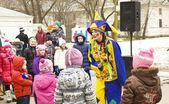 Spring carnival Pancake week in Russia — Foto Stock