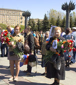 Moscow, holiday Victory day — Stock Photo